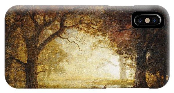 Awakening iPhone Case - Forest Sunrise by Albert Bierstadt