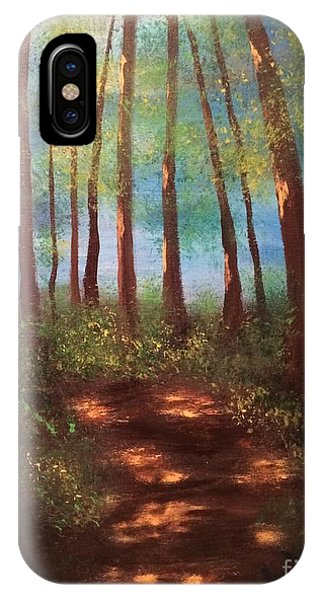 IPhone Case featuring the painting Forests Glow by Denise Tomasura