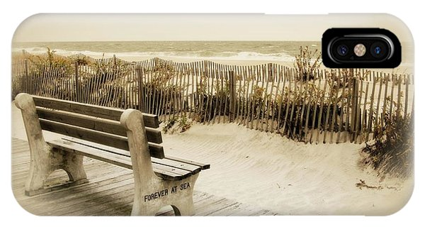 IPhone Case featuring the photograph Forever At Sea - Jersey Shore by Angie Tirado