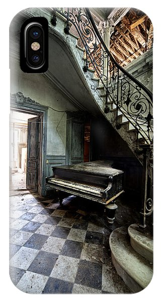 Forgotten Ancient Piano - Urban Exploration IPhone Case