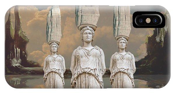 IPhone Case featuring the digital art Forgotten Atlantis by Alexa Szlavics