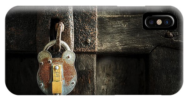IPhone Case featuring the photograph Forgotten Lock by Ryan Wyckoff