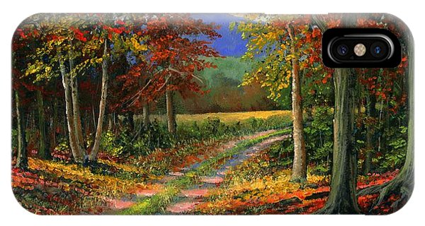Foliage iPhone Case - Forgotten Road by Frank Wilson