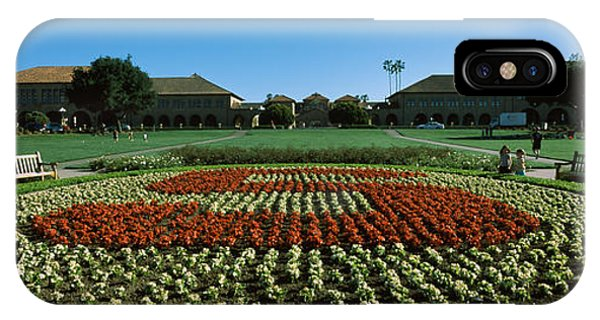 Stanford iPhone Case - Formal Garden At The University Campus by Panoramic Images