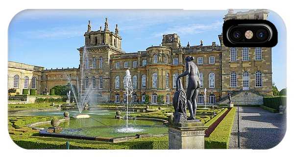 IPhone Case featuring the pyrography Formal Garden Blenheim Palace by Joe Winkler