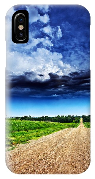 Forming Clouds Over Gravel IPhone Case
