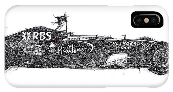 1 iPhone Case - Formula 1, Williams Race Car, Office Decoration, Gift For Men, Man Office Decoration by Drawspots Illustrations