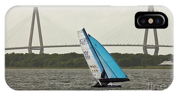 Catamaran iPhone Case - Formula 18 Sailing Cat Big Booty Charleston Sc by Dustin K Ryan