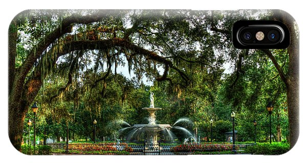 St. Patricks Day iPhone Case - Forsyth Park Fountain 2 Historic Savannah Georgia by Reid Callaway