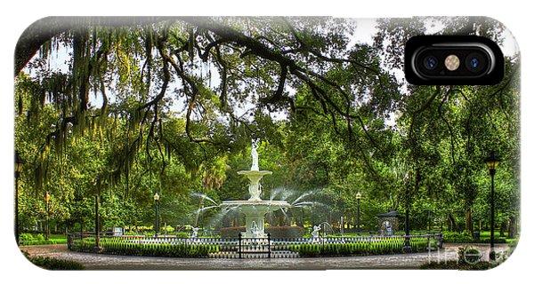Forsyth Park Fountain Historic Savannah Georgia IPhone Case