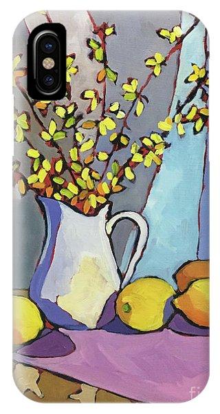 Forsythia And Lemons Phone Case by Catherine Martzloff