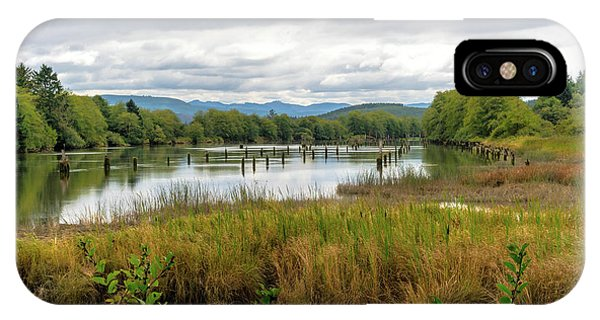 IPhone Case featuring the photograph fort Clatsop on the Columbia River by Michael Hope
