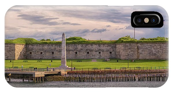 Fort Independence At Castle Island IPhone Case
