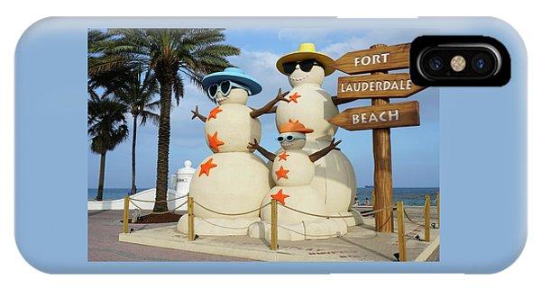 Fort Lauderdale Snowman IPhone Case