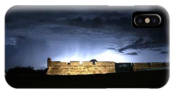 Lightening At Castillo De San Marco IPhone Case
