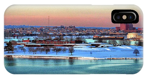 Fort Mchenry Shrouded In Snow IPhone Case