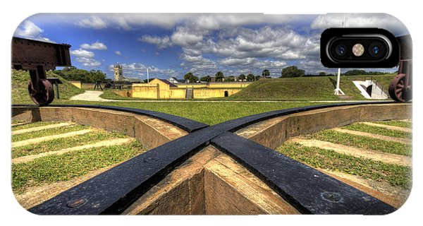 Fort iPhone Case - Fort Moultrie Cannon Tracks by Dustin K Ryan