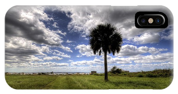 Fort Moultrie Palm  IPhone Case