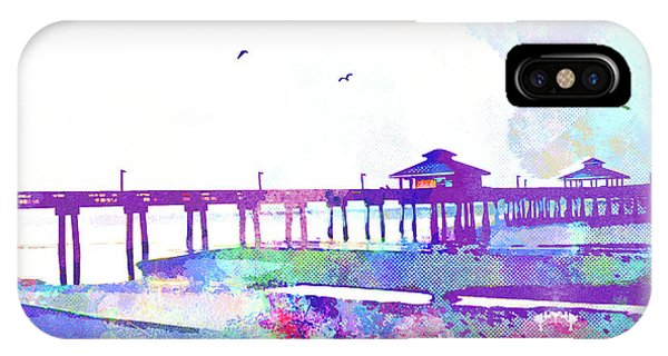 iPhone Case - Fort Myers Beach Pier by Chris Andruskiewicz