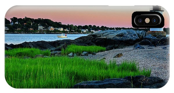 Fort Pickering Light Through The Tall Grass Salem Ma IPhone Case