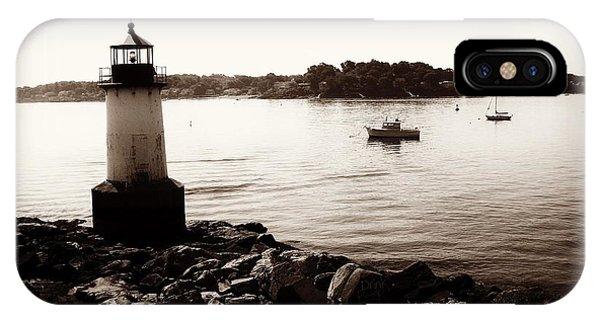 Fort Pickering Lighthouse, Winter Island, Salem, Massachusetts IPhone Case