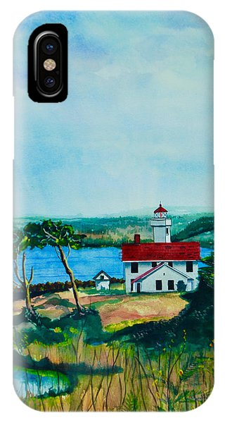 Port Townsend iPhone Case - Fort Worden Morning by Stephen Abbott