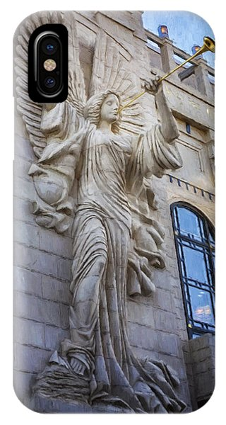 Fort Worth Impressions Bass Hall Angel IPhone Case