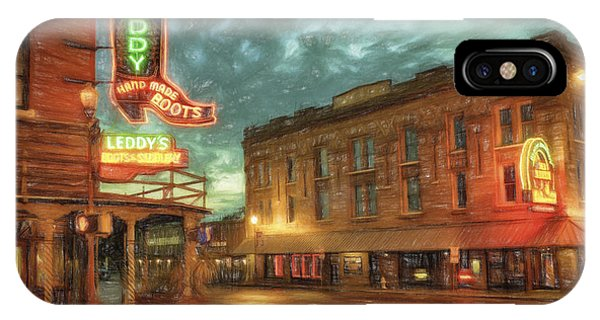 Sketch iPhone Case - Fort Worth Impressions Main And Exchange by Joan Carroll