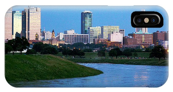 IPhone Case featuring the photograph Fort Worth Skyline 2 by Ricardo J Ruiz de Porras