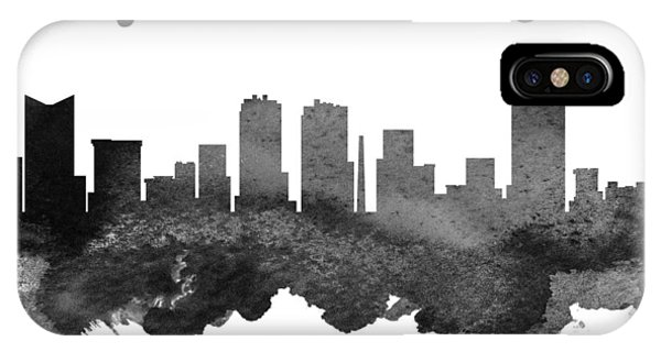 University iPhone Case - Fort Worth Texas Skyline 18 by Aged Pixel