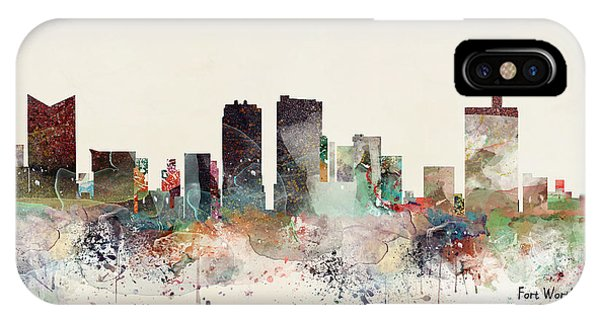 Fort iPhone Case - Fort Worth Texas Skyline by Bri Buckley