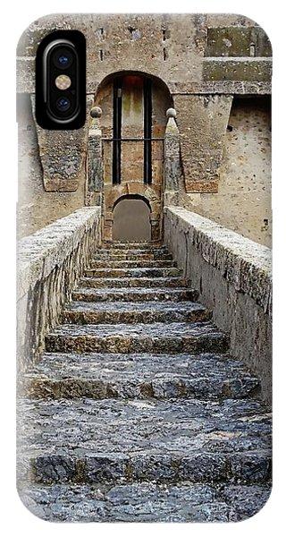 IPhone Case featuring the digital art Fortezza Spagnola - Porto Santo Stefano, Italy by Joseph Hendrix