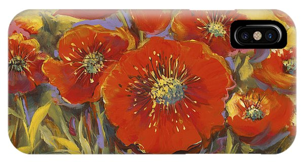 Fortuitous Poppies IPhone Case