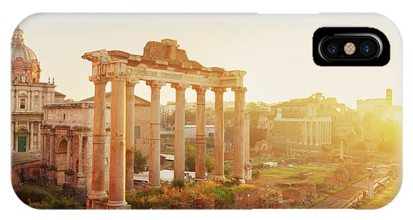 Forum - Roman Ruins In Rome At Sunrise IPhone Case