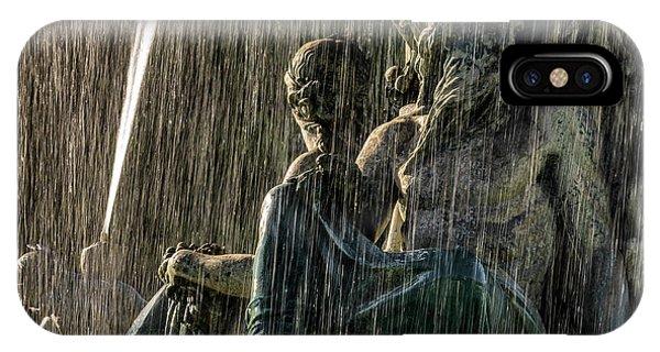 Fountain At Rossio Square IPhone Case