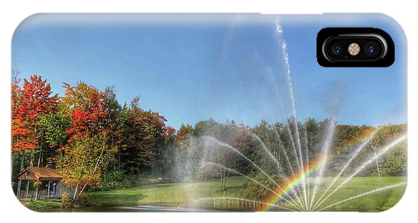 Fountain At Tater Hill IPhone Case