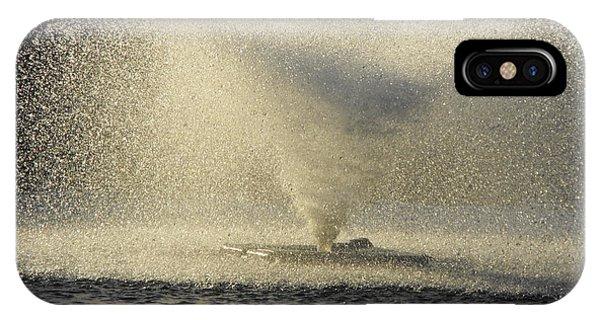 Fountain Tornado Illuminating The Shadow IPhone Case