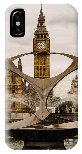 Fountain With Big Ben IPhone Case
