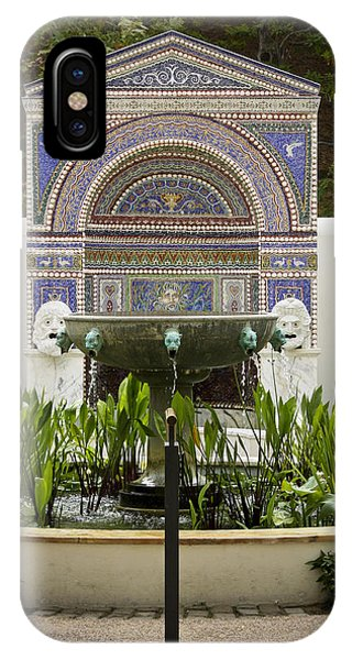 J Paul Getty iPhone Case - Fountains At The Getty Villa by Teresa Mucha