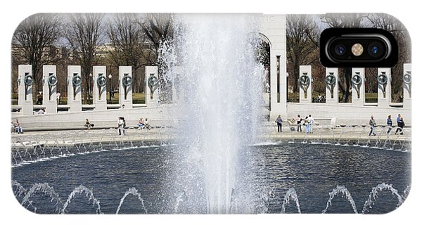 Fountains At The World War II Memorial In Washington Dc IPhone Case
