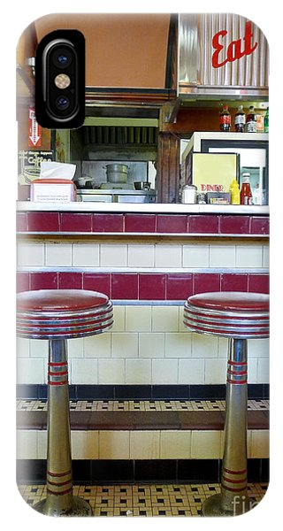 Menu iPhone Case - Four Aces Diner by Edward Fielding