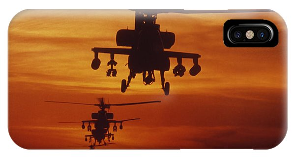 Helicopter iPhone Case - Four Ah-64 Apache Anti-armor by Stocktrek Images