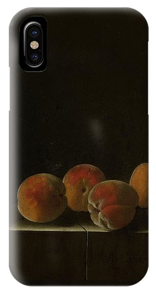 Four Apricots On A Stone Plinth IPhone Case