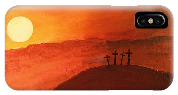 Four Crosses IPhone Case