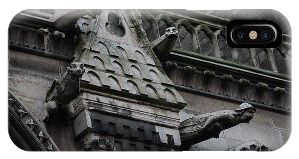 Four Gargoyles On Notre Dame North IPhone Case