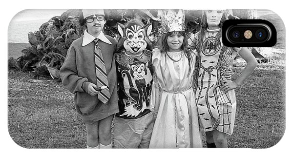 Four Girls In Halloween Costumes, 1971, Part One IPhone Case