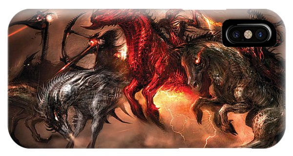 Horseman iPhone Case - Four Horsemen by Alex Ruiz
