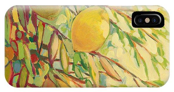 Impressionist iPhone Case - Four Lemons by Jennifer Lommers