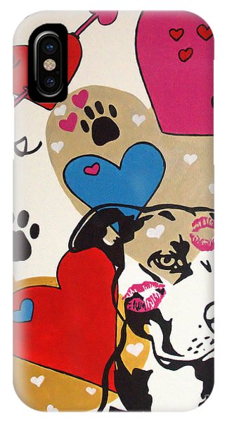 Four Pitty Paws IPhone Case