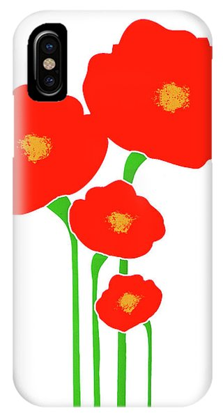 Four Red Flowers IPhone Case